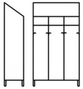 Armoire vestiaire inox 3 portes - Dimensions (L x P x H) mm : 990 x 400 x 2000