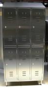 Armoire vestiaire inox 6 portes - Dimensions (L x P x H) mm : 910 x 400 x 2000