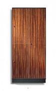 Armoire vestiaire plaquage de bois - Plaquage de bois véritable