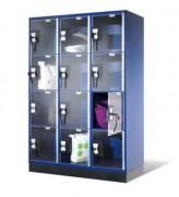 Armoire vestiaire pour centres commerciaux - Casiers en verre acrylique