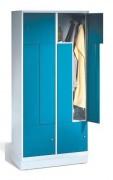 Armoires de penderie en Z - Dimensions utiles par compartiment (H x L x P) : 1225 x 350/160 x 480 mm