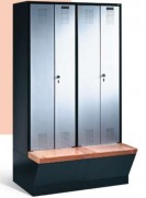 Armoires de vestiaires - Portes résistantes - Fermeture à pêne rotatif