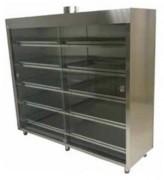 Armoires laboratoire en inox à portes coulissantes - Armoire ventilée - En inox AISI 304 et verre trempé
