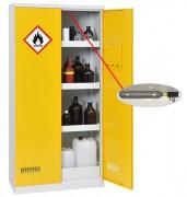 Armoires pour produits dangereux - avec système d'extinction intégré - Armoire de sécurité - Stockage de produits inflammables - Rétention totale de 122 L -