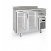 Arrière bar avec portes vitrées - Capacité (L) : de 340 à 940 -  Certifié  ISO 9001 et ISO 14001