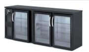 Arrière bar hauteur 820 - Capacité (L) : De 325  à 650 -   Certifié  ISO 9001 et ISO 14001 – Porte vitrée