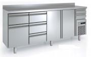 Arrière bar réfrigéré avec tiroirs pleins - Capacité (L) : de 340 à 940 -  Certifié ISO 9001 et ISO 14001