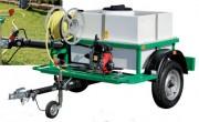 Arrosage sur remorque routière cuve 600/1000 litres - Cuve polyester avec cloisons anti-vagues