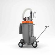 Aspirateur de déchets thermique - Conteneur : 120 Litres