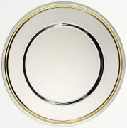 Assiette de présentation - Diamètre : 32 cm - inox ou inox/dorée