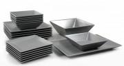 Assiette de table - Assiette plate (L x l x h) : 26,5 x 26,5 cm