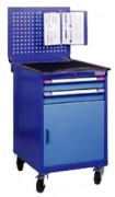 Atelier de rangement outillage à roues - Dimensions (L x P x H) mm : 600 x 695 x 950