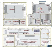 Atelier modulaire de découpe viande - Surface (m²) : 36
