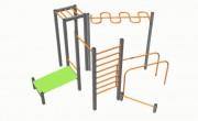 Atelier module de gymnastique - Poteaux acier mécano soudé tube