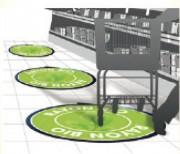 Autocollants de sol - Résistant à l'eau - Antidérapant