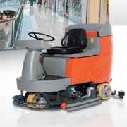 Autolaveuse à conducteur porté avec chargeur - Puissance  moteur brosses : 800 W