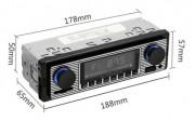 Autoradio vintage - Source sonore : Lecteur MP3 intégré au véhicule