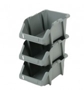 Bacs  à bec en plastique recyclé - Charge maxi : de 2 à 10 Kg - Dimensions  (L x l x H) ) : 165 x 103 x76 mm