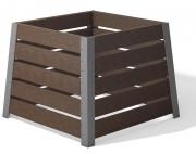 Bac à compost cadre aluminium - Cadre en aluminium -  Capacité : 528 litres - Hauteur : 78 cm