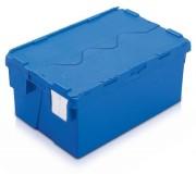Bac à couvercle intégré 70 L - Volume : 70 Litres - Dim. ext. : (L x l x H) 600 x 400 x 400 mm