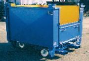 Bac à déchets industriels - Porte amovible pour faciliter l'ouverture