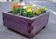 Bac à fleur rectangulaire plastique - 2 Modèles : Carré ou Rectangulaire - Hauteur : 47 cm