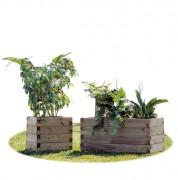 Bac à fleurs pin du nord - Dimensions (L x P x H) cm : De 50 x 100 x 50 à 100 x 100 x 50