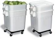 Bac à ingrédients alimentaire roulant - Dimensions extérieures (L x I x h) : 545 x 545 x 870 mm