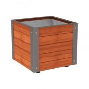 Bac à palmier 100% bois - Dimensions (L x l x H) mm : De 500 x 500 x 1050 à 1000 x 1200 x 900