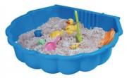 Bac à sable de jeux en plastique - Dimensions hors tout (L x l x H) cm : 87 x 78 x 20