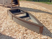 Bac à sable plastique recyclé pirate - Dimensions : L x l x H : 285 x 105 x 30 cm