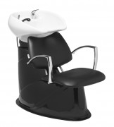 Bac à shampooing à cuvette céramique - Fauteuil disponible en 52 nuances au choix