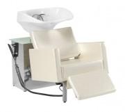 Bac à shampooing à télécommande - Dimensions du bac à shampooing (L x P x H) : 68 x 100/130 x 95 cm