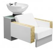 Bac à shampooing complet - Dimensions du bac à shampooing (L x P x H) : 81 x 120 x 91 cm