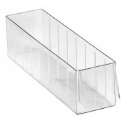 Bac à tiroirs transparent - Dimensions extérieures (L x l x H) :   320 x 85 x 92 - 355 x 185 x 101  mm