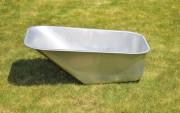 Bac brouette en acier zingué - Capacité : 100 litres - Tôle épaisseur  1 mm