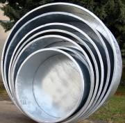 Bac cylindrique métallique - Contenance (L) : 260 à 1500