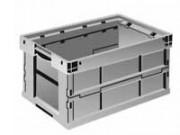 Bac de distribution gerbable 49 Litres - 600x400 gris/bleu