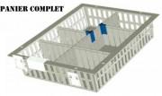 Bac de distribution médicaments - Dimensions (mm) : De 600 x 400 x 50 à 600 x 400 x 200