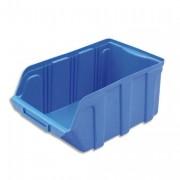 Bac de rangement à bec 10L Tekni avec porte étiquette en polypropylène bleu L20xH15xP33cm - Viso