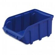 Bac de rangement à bec 1L Tekni avec porte étiquette en polypropylène bleu L10xH7xP16cm - Viso