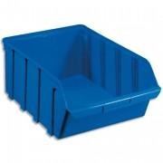 Bac de rangement à bec 28L Tekni avec porte étiquette en polypropylène bleu L30,5xH17,5xP46cm - Viso