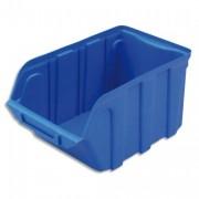 Bac de rangement à bec 4L Tekni avec porte étiquette en polypropylène bleu L14xH12,5xP23cm - Viso