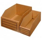 Bac de rangement en carton - Dimensions  L x l x h  : 30 x 05 x 11 cm