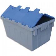 Bac de rangement navette 50L en polypropylène bleu gris L40xH31,2xP60cm - Viso