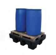 Bac de rétention 2 fûts - Stockage de deux fûts de 220 litres.