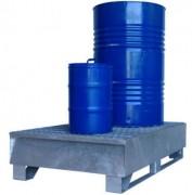 Bac de rétention 2 fûts 1T - Charge admissible : 1000 kg - Volume de rétention : 220 litres