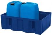 Bac de rétention 2 fûts 60 litres - En polyéthylène W,9853, W,9854, W,9855