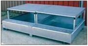Bac de rétention 2 transicuves - Dimensions (L x l x h) : 2650 x 1300 x 430 mm