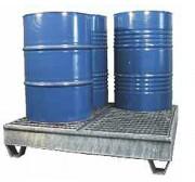 Bac de rétention 4 fûts 220 litres - Charge admissible : 1500 kg